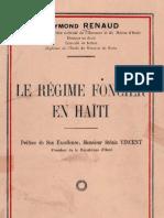 Le Régime Foncier Haïtien - Raymond Renaud, 1934