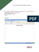 Final HTML File