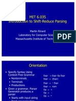Introduction to Shift Reduce Parsing