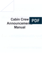 Cabin Crew Announcements Manual