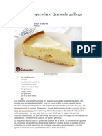 Tarta de requesón o Quesada gallega