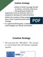 Creative Strategy by Sanjay