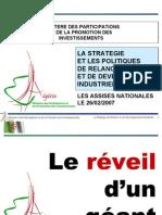 Strategie Et Politique Relance Algerie