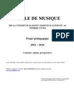 Projet pédagogique - Amendé  AG - novembre 2011
