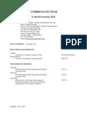 EDC- CV   Urology   Prostate Cancer