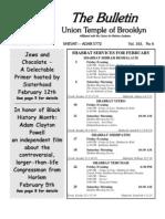 UT Bulletin February 2012