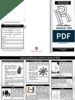 Folder de Inscrição nas turmas - EBD - 2