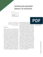 Conversar Para Aprender Gadamer y La Educacion