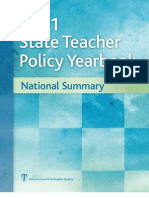REPORT -- National Council on Teacher Quality