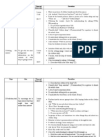 Lesson Plan Procedure Sheet