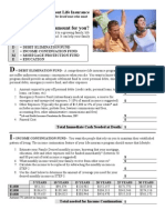 Form - DIME Calclator (Life Insurance)