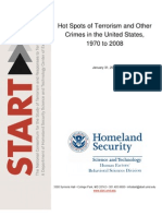 US Department of Homeland Security (DHS) Hotspots of US Terrorism (1970-2008)