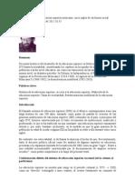 Breve historia de la educación superior mexicana
