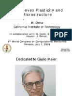 M. Ortiz- Nonconvex Plasticity and Microstructure