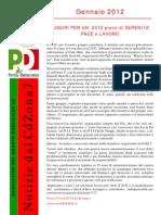 Newsletter di GENNAIO 2012 del Gruppo Consiliare PD di Zona 7-Milano
