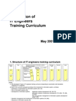 Description of IT Engineers Training Curriculum