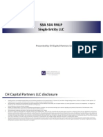 CH Capital - SBA 504 FMLP Single Entity