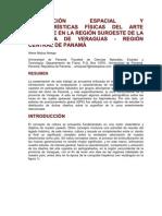 DISTRIBUCIÓN ESPACIAL Y CARACTERÍSTICAS FÍSICAS DEL ARTE RUPESTRE EN LA REGIÓN SUROESTE DE LA PROVINCIA DE VERAGUAS