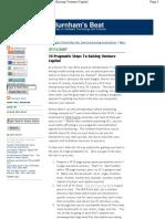 10 Pragmatic Steps to Raising Venture Capital