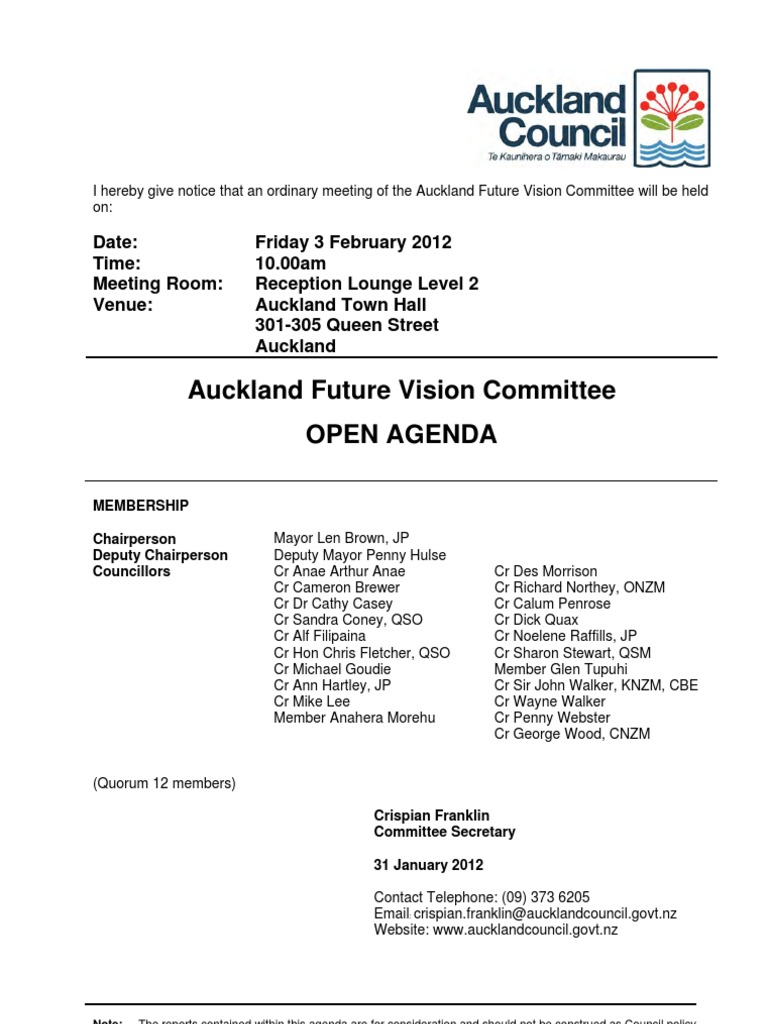auckland future vision agenda #1 | Affordable Housing