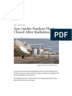 San Onofre Nuclear Plant Closed After Radiation Leak  米国サンディエゴ北西、ロスアンジェルス南東のサンオノフレ原発、放射能漏れで停止
