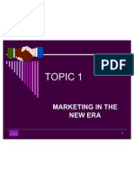 MARKETING MANAGEMENT TOPIC 1