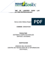 Informe de Pasantias Profesionales Ecotec