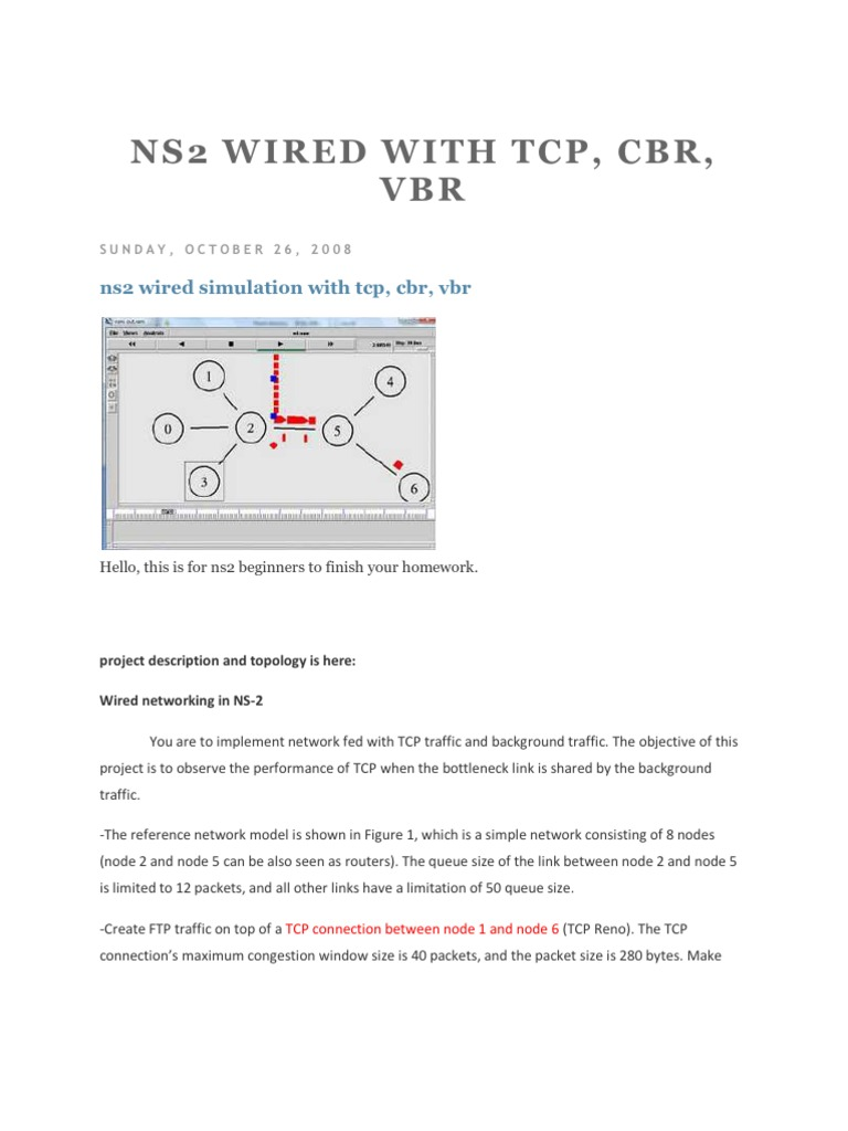 NS2 Wired With Tcp EXTRA[1] | Transmission Control Protocol ...