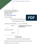 Fuglvog sentencing memorandum
