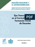volumen6-Ejes Transversales en el curriculo de la formación inicial de docentes