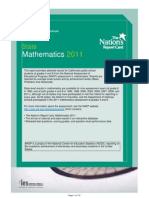 US Department of Education NEAP Mathematics Results For California (2011)