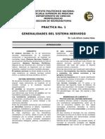 PRACTICA No. 1  GENERALIDADES DEL SISTEMA NERVIOSO  Dr. Luis Arturo Juárez Islas.
