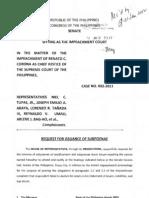 Request for Subpoenae Jan31 P317