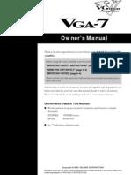 VGA-7 Guitar Amplifier User's Manual