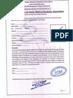 Membership Form IMSA