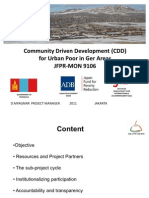 Mongolia_Community Driven Development (CDD) for Urban Poor in Ger Areas