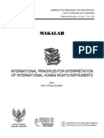 International Principles for Interpretation of International Human Rights Instruments