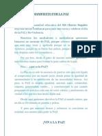 Manifiesto Por La Paz Mediadores