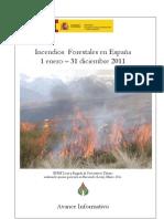 Avance Informativo Incendios Forestales 2011