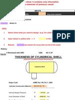 Design Calculations for Pressure Vessels