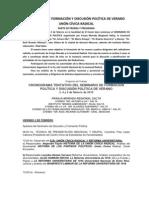 Parte de Prensa y Programa SEMINARIO 2012