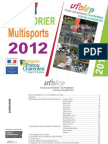 CALENDRIER MULTISPORTS UFOLEP 2012