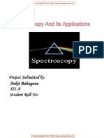 CBSE XII Chemistry Project Spectroscopy and Its Applications