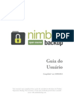 Nimbus Open Source Backup Guia Do Usuario 190911