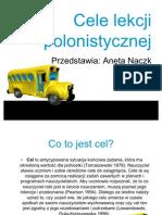 Cele lekcji polonistycznej