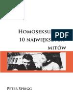 Homoseksualizm Fakty i Mity