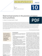 Good Occlusal Practice in the Provision of Implant Borne Prostheses