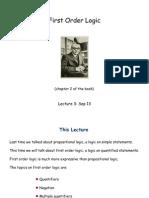 First Order Logic (Discrete Math)