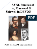 The MAYNE families of Exeter, Marwood & Shirwell, DEVON