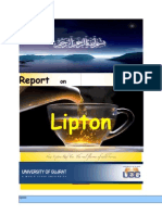Report on Lipton Tea a (m.com .x)